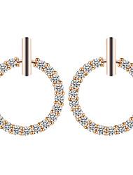 baratos -Mulheres Diamante sintético Fashion Brincos em Argola - Strass Donuts senhoras Original Doce Jóias Dourado / Prata Para Diário Encontro 1 par