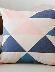 cheap -1 pcs Cotton / Linen Pillow Cover, Geometric Modern / Contemporary