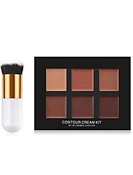 billiga Ansikte-6 färger Matt Concealer Concealer # Mode Fullständig Täckning Party / Fest / Casual Smink Kosmetisk