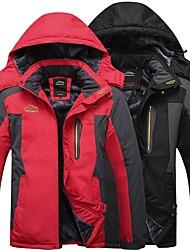 Недорогие -Муж. Куртка софтшелл для туризма и прогулок на открытом воздухе Осень Зима С защитой от ветра Дожденепроницаемый Быстровысыхающий Воздухопроницаемость Полиэстер Зимняя куртка Односторонняя