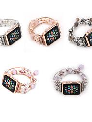 Недорогие -Ремешок для часов для Apple Watch Series 4/3/2/1 Apple Дизайн украшения Керамика Повязка на запястье