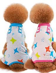 abordables -Chiens / Chats Pyjamas Vêtements pour Chien Bande dessinée / Etoiles Vert / Bleu / Rose Coton Costume Pour les animaux domestiques Unisexe Style Mignon / Décontracté / Quotidien