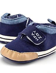 preiswerte -Jungen Schuhe Leinwand Frühling & Herbst Stiefeletten Stiefel Klettverschluss für Baby Khaki / Königsblau / Booties / Stiefeletten