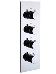 Недорогие -клапан для душа душевой кабины / горячий и холодный смеситель для душа / 3 пути / настенное крепление / хром / латунь / большой поток воды / современный