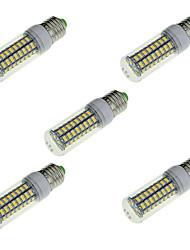 Недорогие -ywxlight 18w e14 / e26 / e27 привело кукурузные огни b 72 smd 5730 1650 lm теплый белый / холодный белый декоративный ac 220-240 v 5 шт.