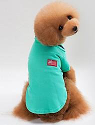 abordables -Chiens / Chats Manteaux / Sweatshirt Vêtements pour Chien Couleur Pleine Gris / Jaune / Vert Coton Costume Pour les animaux domestiques Unisexe Style Simple / Décontracté / Sport