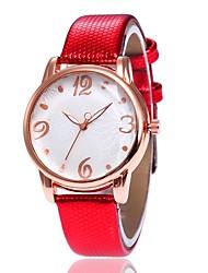 Недорогие -Жен. Нарядные часы Наручные часы Кварцевый Новый дизайн Повседневные часы PU Группа Аналоговый Мода Элегантный стиль Черный / Белый / Синий - Красный Синий Розовый Один год Срок службы батареи
