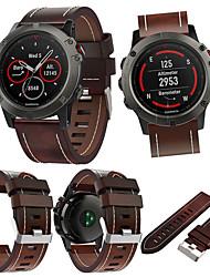 Недорогие -Ремешок для часов для Fenix 5x Garmin Кожаный ремешок Кожа Повязка на запястье