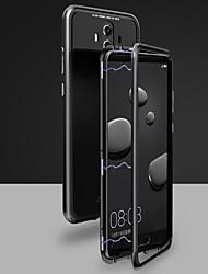 Недорогие -Кейс для Назначение Huawei Mate 10 pro / Mate 10 Магнитный Чехол Однотонный Твердый Закаленное стекло для Huawei Honor 10 / Mate 10 / Mate 10 pro