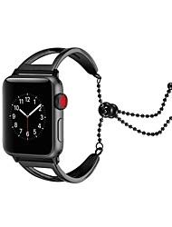 Недорогие -Нержавеющая сталь Ремешок для часов Ремень для Apple Watch Series 3 / 2 / 1 Черный / Серебристый металл / Золотистый 23см / 9 дюйма 2.1cm / 0.83 дюймы