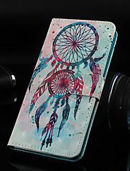 Недорогие -Кейс для Назначение Nokia Nokia 5.1 / Nokia 3.1 / Nokia 2.1 Кошелек / Бумажник для карт / со стендом Чехол Ловец снов Твердый Кожа PU