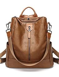 お買い得  -女性用 バッグ PU バックパック ジッパー ブラウン / ブラック