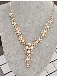 economico -Per donna Classico Collana Y - Perle finte, Strass Creativo Alla moda, Classico Oro 40+8 cm Collana Gioielli 1pc Per Matrimonio, Cerimonia