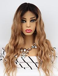 Недорогие -Необработанные натуральные волосы Лента спереди Парик Бразильские волосы Естественные кудри Парик Средняя часть 130% Плотность волос с детскими волосами Легко туалетный Природные волосы 100