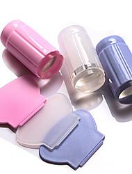 abordables -2 pcs Stamper & Scraper Modèle Série romantique Amovible / Haute Transparence / Meilleure qualité Manucure Manucure pédicure simple / Mode Bureau / Carrière / Quotidien