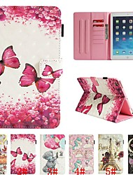 Case For Le Ipad 2018 4 3 2 Card Holder With Stand Flip Full Body Cases Animal Cartoon Flower Hard Pu Leather Air