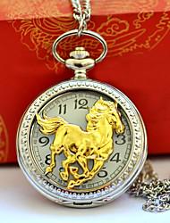 Недорогие -Муж. Для пары Карманные часы Кварцевый Повседневные часы Cool сплав Группа Аналоговый Винтаж На каждый день Серебристый металл - Золотой