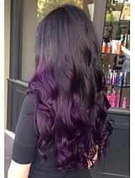 Недорогие -Remy Лента спереди Парик Перуанские волосы Естественные кудри Парик 150% Плотность волос Природные волосы С отбеленными узлами Жен. Длинные Парики из натуральных волос на кружевной основе beikashang