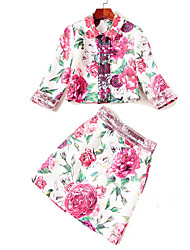 cheap -Women's Basic Set - Floral Skirt