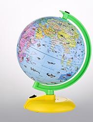 """Недорогие -мировой мир для детей с подставкой - встроенный светодиодный светильник для ночного видения - красочные, легко читаемые этикетки континентов, стран, столиц и чудес природы, 8 """""""