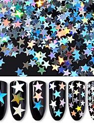 Недорогие -Блеск Пайетки Глянцевый / Тонкий дизайн / Меняет цвета Мультипликационные серии Белая серия маникюр Маникюр педикюр ПВХ Стиль / модный Рождество / Повседневные / фестиваль