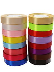 Недорогие -Сплошной цвет Satin Свадебные ленты Пьеса / Установить Атласная лента Для украшения подарочных коробочек/мешочков Для украшения