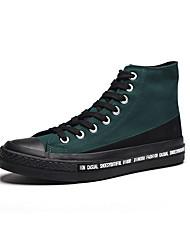 abordables -Homme Chaussures vulcanisées Toile Automne Décontracté Basket Preuve de l'usure Violet / Vert / Bleu