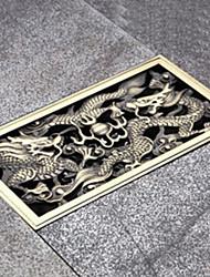Недорогие -Слив Новый дизайн / Cool Античный Латунь 1шт Установка на полу