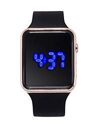 Недорогие -Жен. электронные часы Цифровой 30 m Творчество ЖК экран силиконовый Группа Цифровой Мода Черный - Лиловый Пурпурный Розовое золото