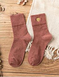 billige -1 Par Dame Sokker Standard Trykt mønster Mindsker stress Sweet Style Bomuld EU36-EU42