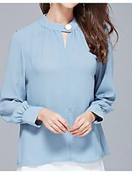 billige -Kvindertrøje - solid farvet rund hals