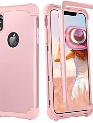 Недорогие -BENTOBEN Кейс для Назначение Apple iPhone XR / iPhone XS Max Защита от удара / Wireless Charging Receiver Case Кейс на заднюю панель Однотонный Твердый ПК / силикагель для iPhone XR / iPhone XS Max