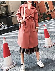 billige -Kvinders lange løse frakke - solidfarvet
