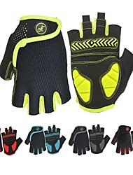 Недорогие -Перчатки для велосипедистов Перчатки для горного велосипеда Горные велосипеды Шоссейные велосипеды Дышащий Противозаносный Ударопрочность Впитывает пот и влагу Полупальцами Спортивные перчатки SBR