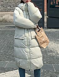 رخيصةأون -مبطن المرأة طويلة - موقف بلون متصل