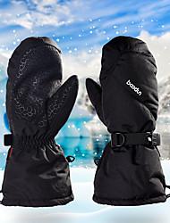 Недорогие -Спортивные перчатки Зимние Лыжные перчатки Муж. Жен. Снежные виды спорта Полный палец Зима Водонепроницаемость С защитой от ветра Сохраняет тепло Кожа PU Тканый хлопок