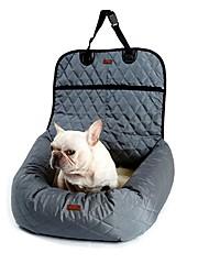 baratos -Prova-de-Água / Portátil / Acampar e Caminhar Roupas para cães Cobertura de Cadeira Automotiva / Camas Sólido Bege / Cinzento / Preto Cachorros / Gatos