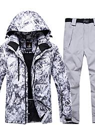 Недорогие -ARCTIC QUEEN Муж. Activewear Set / Лыжная куртка и брюки С защитой от ветра, Теплый, Съемный капюшон Катание на лыжах / Сноубординг / Зимние виды спорта Полиэфир, Экологичность Полиэстер