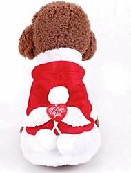 abordables -Chiens / Chats Costume / Décoration Vêtements pour Chien Couleur Pleine Rouge Térylène Costume Pour les animaux domestiques Homme / Femme Cosplay / Noël