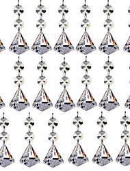 Недорогие -20шт 30мм алмаз хрусталь шарик канделябры призмы подвески части бисер