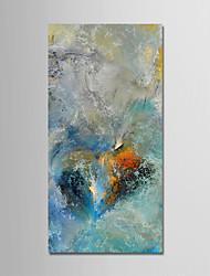 abordables -Peinture à l'huile Hang-peint Peint à la main - Abstrait / Paysage Moderne Inclure cadre intérieur / Toile tendue