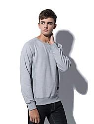 billige -Herre Basale Sweatshirt - Ensfarvet