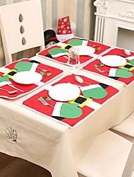 abordables -Rangement de Table Accessoires Parti Noël / Fête / Soirée Noël / Costumes de père noël / Créatif Non-tissé