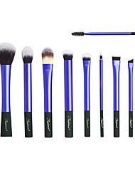 baratos -10pçs Pincéis de maquiagem Profissional Conjuntos de pincel sintético Plástico