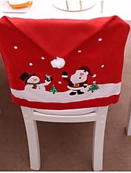 baratos -Natal cadeira tampa traseira decoracion navidad chapéu decorações de natal para casa mesa de jantar ano novo xmas tampa da cadeira