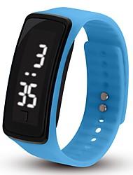Недорогие -Для пары Спортивные часы Цифровой силиконовый Черный / Белый / Синий Календарь Секундомер Новый дизайн Цифровой Блестящие Мода - Синий Розовый Светло-Зеленый Один год Срок службы батареи / SSUO 377