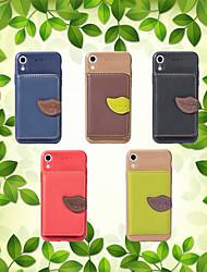 billige -Etui Til Apple iPhone XS / iPhone XR Pung / Kortholder / Med stativ Bagcover Ensfarvet Blødt PU Læder for iPhone XS / iPhone XR / iPhone XS Max