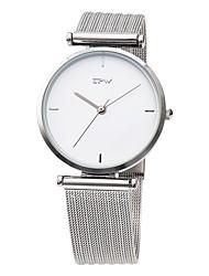 Недорогие -Для пары Нарядные часы Японский Японский кварц Нержавеющая сталь Белый 30 m Защита от влаги Cool Аналого-цифровые На каждый день Мода - Серебряный Розовое золото / Белый Один год Срок службы батареи