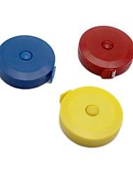 Недорогие -1pc 150cm рулетка измерительная рулетка выдвижная красочная портативная линейка сантиметр дюйм для одежды ноги мягкие ноги случайный цвет