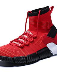 abordables -Homme Chaussures de confort Tricot Automne Sportif / Décontracté Chaussures d'Athlétisme Course à Pied Massage Blanc / Noir / Rouge
